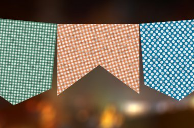 Flags celebrating a Party