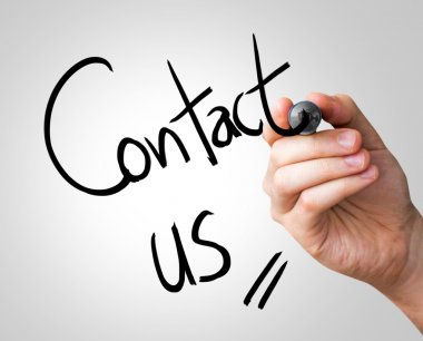 Contact us hand writing