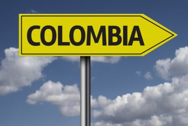 Colombia yellow sign