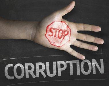 Stop Corruption on the blackboard