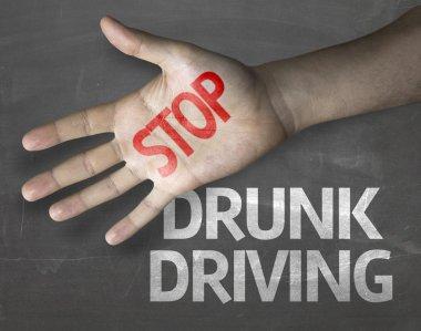 Stop Drunk Driving on the blackboard