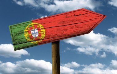 Portugal flag wooden sign