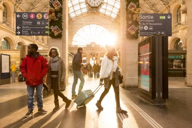 PARIS, FRANCE - CIRCA JAN 2015: Gare du Nord Station in Paris, France.