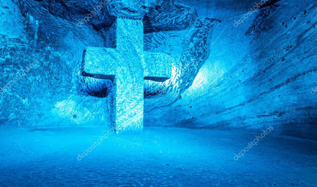 Blue Cross Symboliseert Het Geloof Stockfoto Filipefrazao 63649969