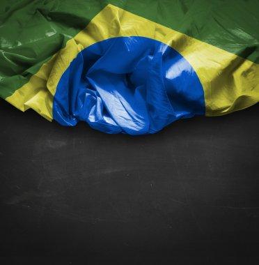 Brazilian flag on blackboard