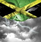 Photo Jamaica waving flag