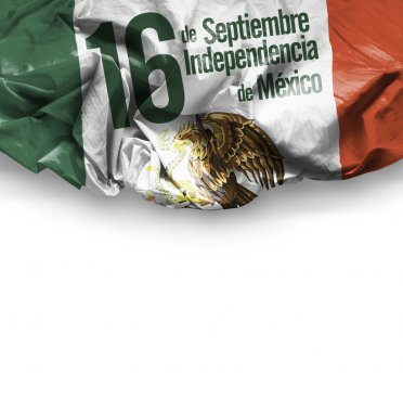 Independence of Mexico on flag