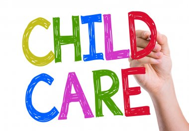 Child Care written on the wipe board