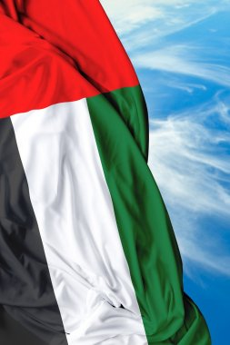 UAE waving flag on a beautiful day