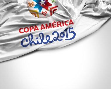 SAO PAULO, BRAZIL - CIRCA MARCH 2015: Flag with Copa America Chile 2015