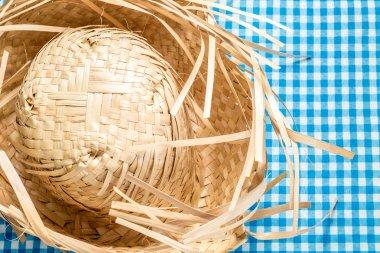 Straw Hat on the table (Festa Junina Theme)