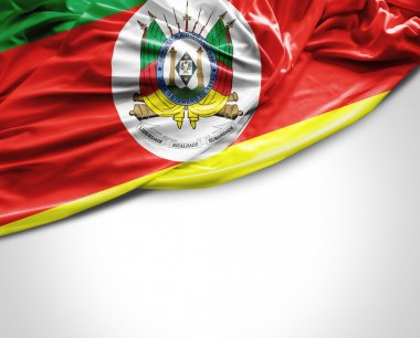 Rio Grande do Sul, Brazil waving flag on white background