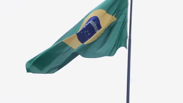 Brazilian waving flag