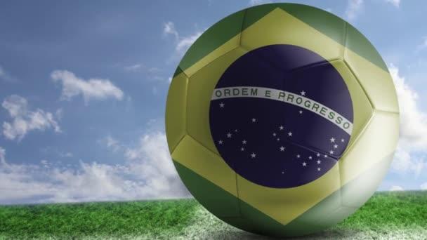 A pályán a brazil futball-labda