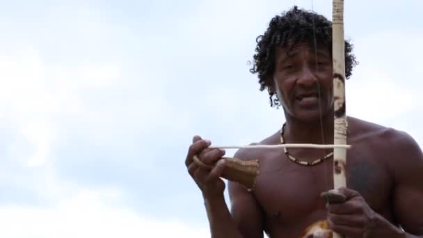 Brazilian playing Berimbau Instrument