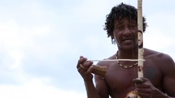 Brazilian playing Berimbau Instrument