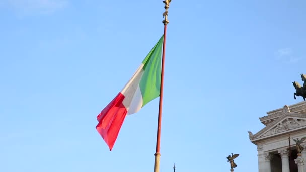 Flag of Italy waving in the wind
