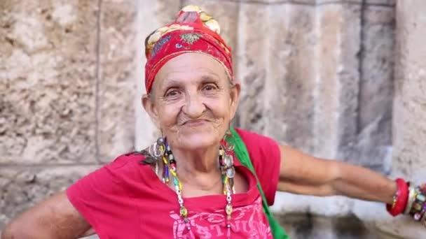 Funny Cuban woman in Havana, Cuba
