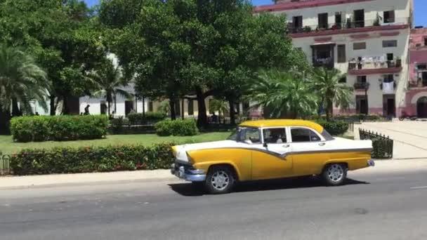 Old fancy car on Vedado district