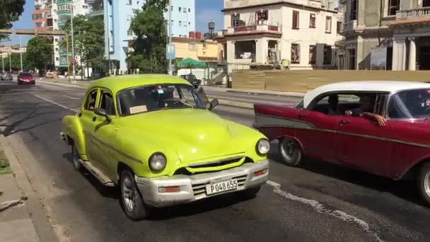 Old Cars in Vedado neighborhood