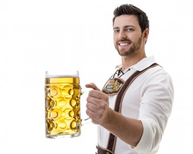 Man in traditional bavarian costume