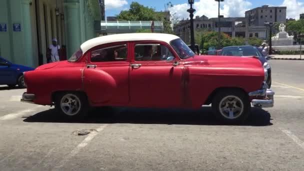 Nice red Chevy in Havana Vieja
