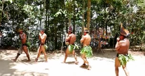 brazilnative ezzel a rituális, egy bennszülött törzs az Amazonas brazilok