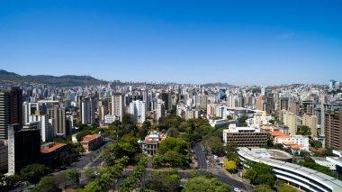 Aerial view of the Liberty Square in Belo Horizonte, Minas Gerais, Brazil