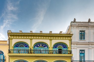 Plaza Vieja with colorful buildings in Havana, Cuba