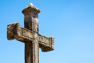 Great cross religion on beautiful day
