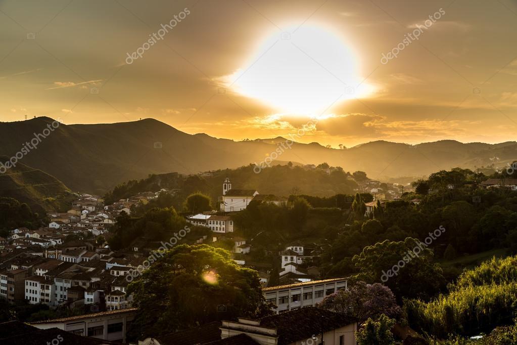 Sunset in Ouro Preto, Brazil