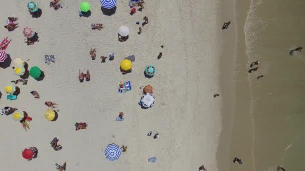 crowded people on Ipanema beach