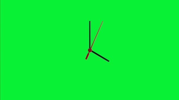 Hodiny zelená obrazovka časová prodleva
