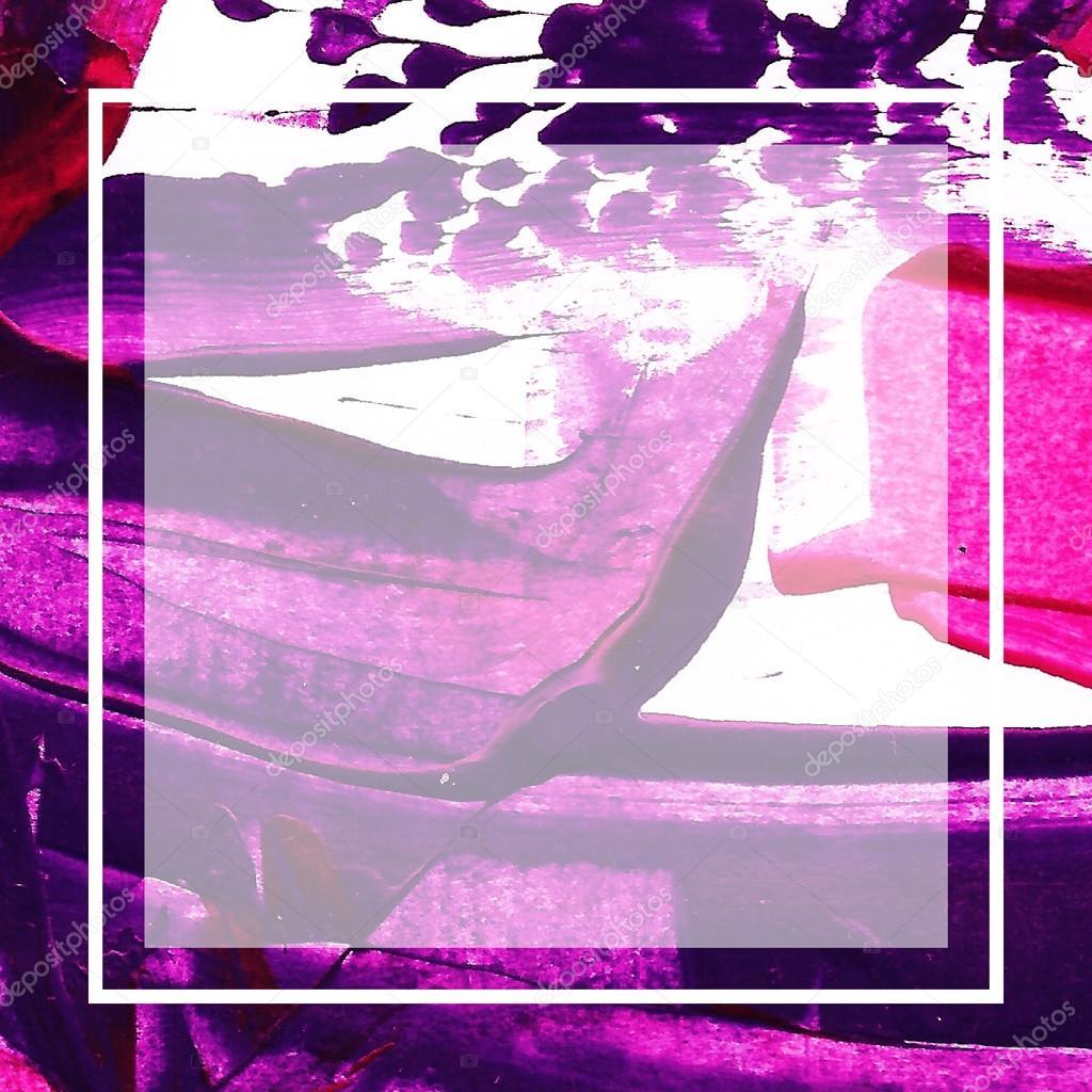 Handgemalte Rahmen. Acryl malen strukturierten Hintergrund ...