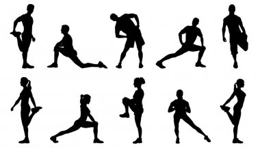 various stretch silhouettes