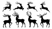 Photo christmas reindeer silhouettes