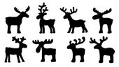 Photo funny reindeer silhouettes