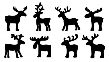 funny reindeer silhouettes