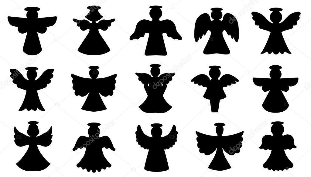 angel silhouettes