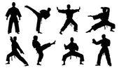 karate sziluettek