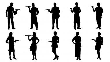 waiter silhouettes