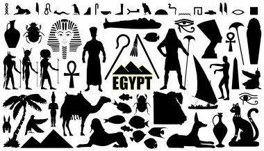 egypt silhouettes