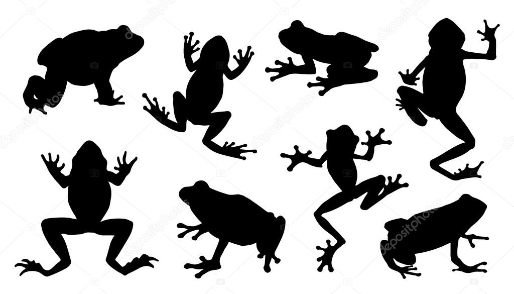 frog silhouettes