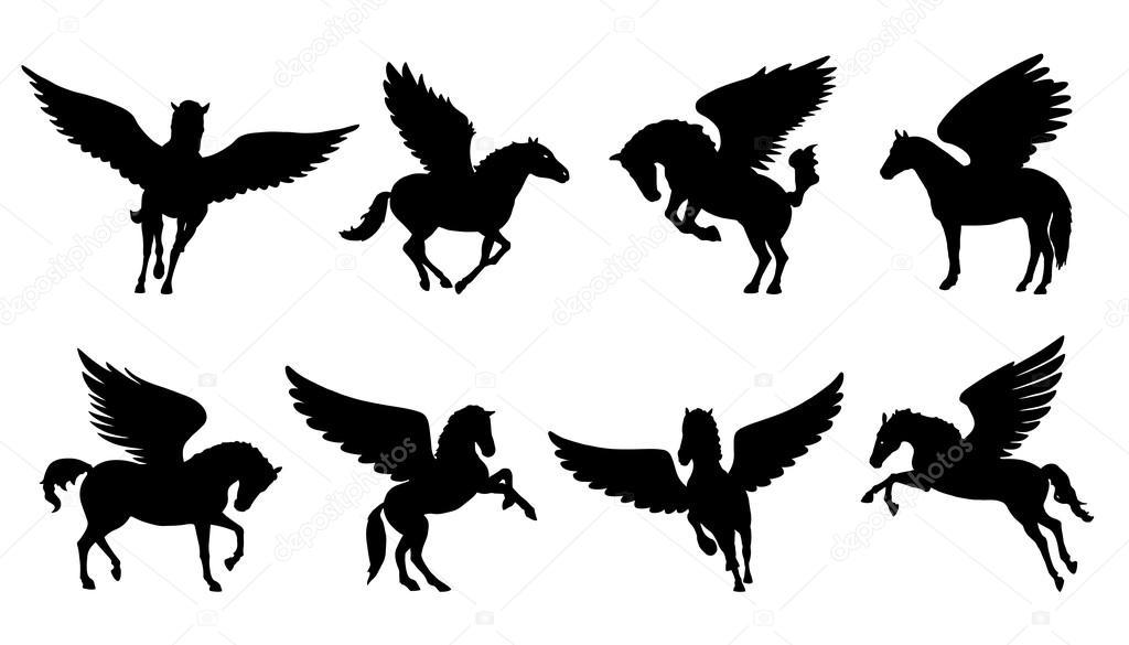 pegasus set silhouettes