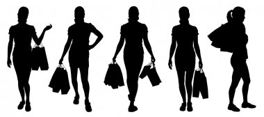women buying silhouettes