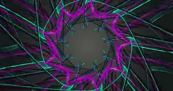 LILO, zelená abstrakce květin. Polygonální geometrického povrchu. počítač tvořil pozadí abstraktní pohybu bezešvé smyčka. 4k