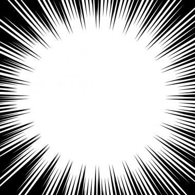 Comic explosion. Vector illustration. Comic book design element.