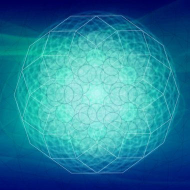 Sacred geometry abstract symbol background