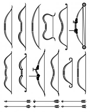Bow and arrow set.