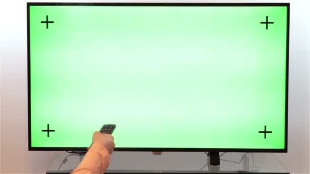 Procházení televizních kanálů. TV zelená obrazovka